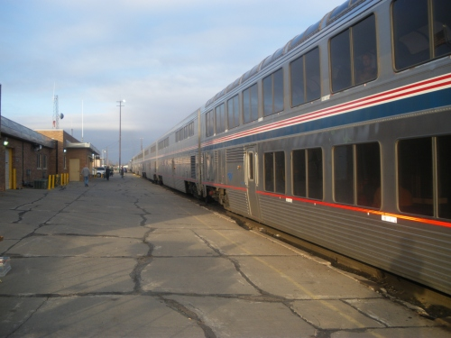 The train I took from Chicago to Santa Fe