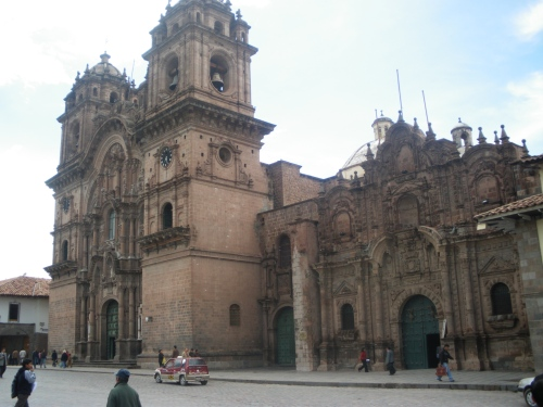 One of the ornate cathedrals in Plaza de Armas