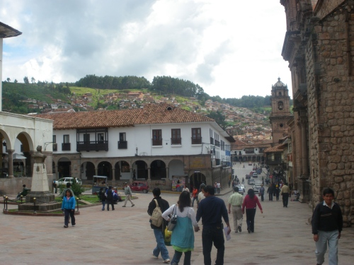 Plaza De Armas, the center of downtown Cusco